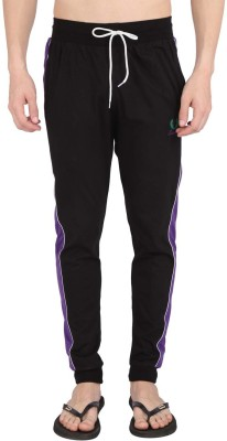 Illicit Nation Solid Men's Black Track Pants