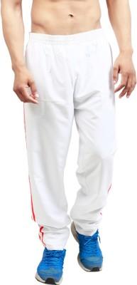Leg-In Solid Men's White Track Pants