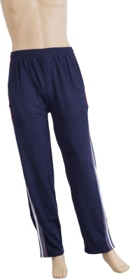 Karwan International Solid Men's Dark Blue Track Pants