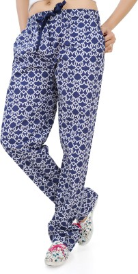 Just4You Printed Women's Blue Track Pants