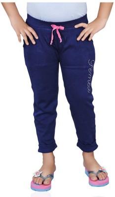 Mint 1351B26 Solid Girl's Blue Track Pants