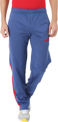 Kafare Solid Men's Blue, Red Track Pants