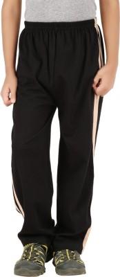 Meril Solid Boy's Black Track Pants