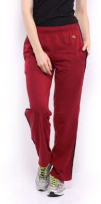 Macrowoman Active Solid Women's Red Track Pants