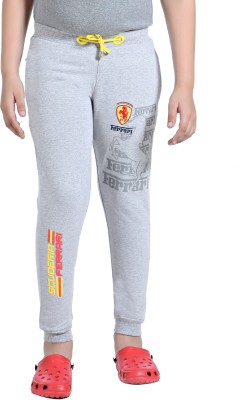 Just4You Printed Boy's Grey Track Pants