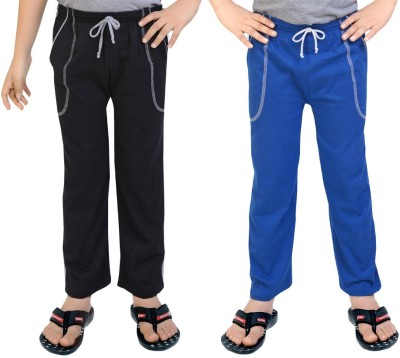 Be 13 Solid Baby Boy's Blue, Black Track Pants