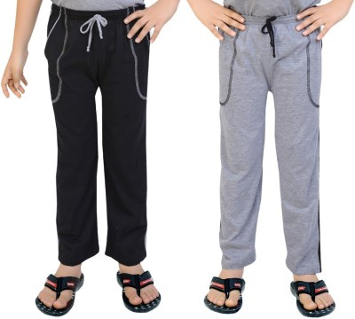 Be 13 Solid Baby Boy's Black, Grey Track Pants