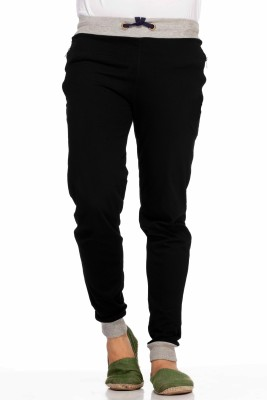 Demokrazy Solid Men's Black Track Pants