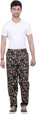 Trustedsnap Printed Men,s Brown Track Pants