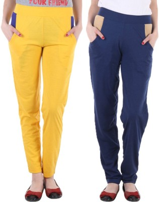 Coaster Solid Women's Yellow, Blue Track Pants