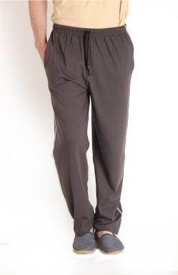 Teen Tees Solid Men's Brown Track Pants