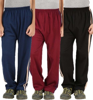 Meril Printed Girls Black, Dark Blue, Red Track Pants