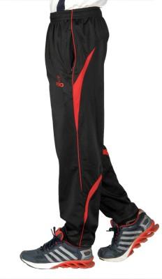 Pixo Solid Men's Black, Red Track Pants