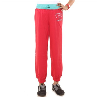Menthol Fashion Printed Girl's Red, Green Track Pants