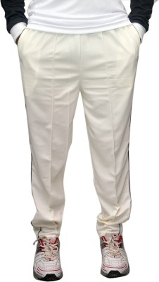 Dyed Colors Solid Men's White Track Pants
