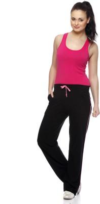Gritstones Solid Women's Pink, Black Track Pants