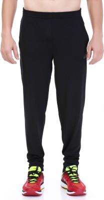 Asics Solid Men's Black Track Pants