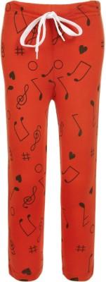 Sweet Angel Printed Boy's Orange Track Pants