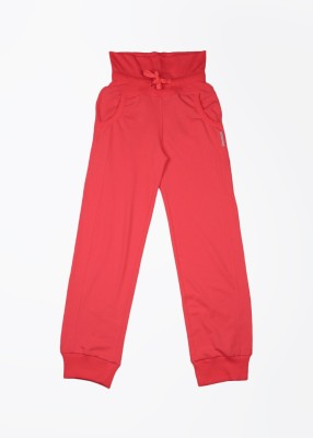 Reebok Solid Girl's Orange Track Pants
