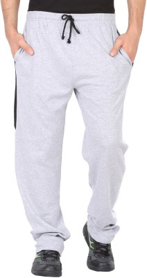Checker S Bay Solid Men's Grey Track Pants