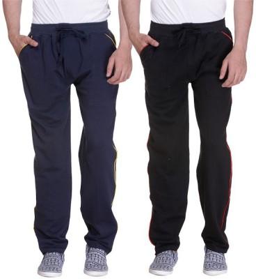 Grand Bear Striped Men's Dark Blue, Black Track Pants
