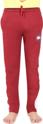 Bongio Self Design Men's Red Track Pants
