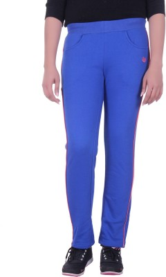 Rafters Solid Women's Blue, Pink Track Pants