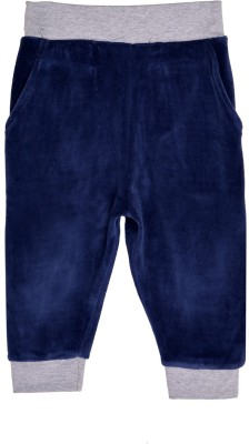 Lil Orchids Solid Girls Dark Blue Track Pants