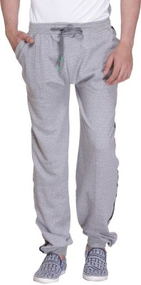 Grand Bear Striped Men's Grey Track Pants