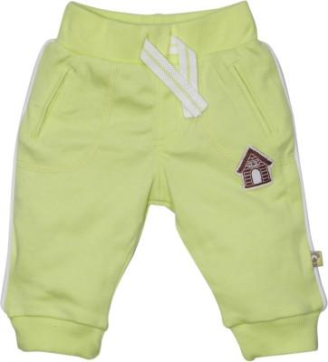 FS Mini Klub Funny Pups Solid Baby Boy,s Green Track Pants