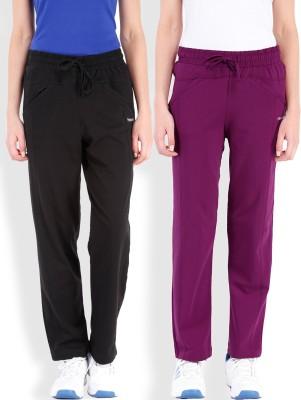 Beyouty Solid Women's Purple, Black Track Pants