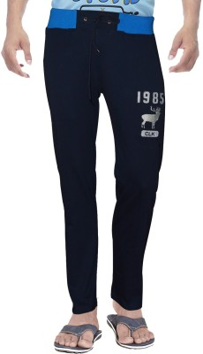 Clickroo Solid Men's Dark Blue Track Pants