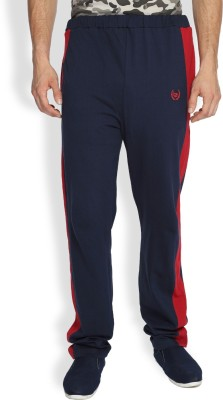 Difference of Opinion Embroidered Men's Blue, Red Track Pants