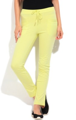 STYLE QUOTIENT BY NOI Solid Women's Light Green Track Pants