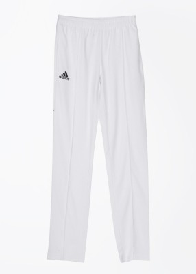Adidas Solid Men's White Track Pants