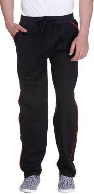 Grand Bear Striped Men's Black Track Pants