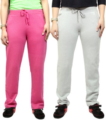 By The Way Solid Women's Purple, White Track Pants