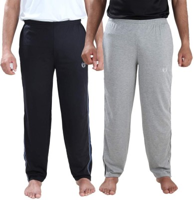 Illicit Nation Solid Men's Black, Grey Track Pants