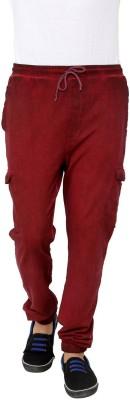 Era of Attitude Solid Men's Red Track Pants