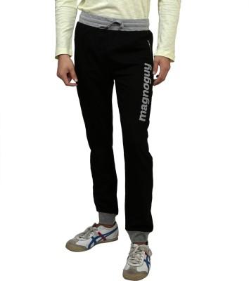 Magnoguy Print Solid Men's Black, Grey Track Pants