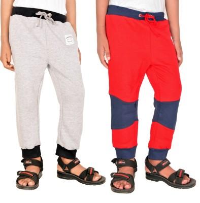 Gkidz Printed Boy,s Grey, Red Track Pants