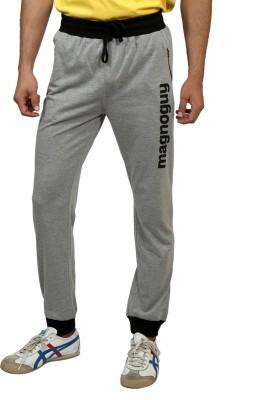 Magnoguy Print Solid Men's Grey, Black Track Pants