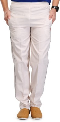 Fever Solid Men's White Track Pants