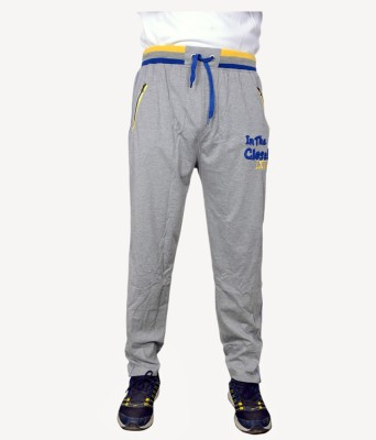 NGT Embroidered Men's Grey Track Pants