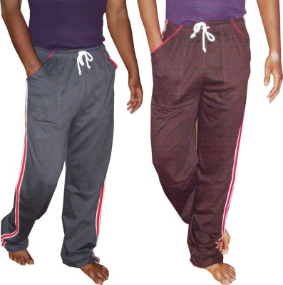 WellFitLook Solid Mens Multicolor Track Pants