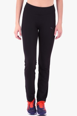 Puma WTEss.StraightLegPant Solid Women's Black Track Pants at flipkart