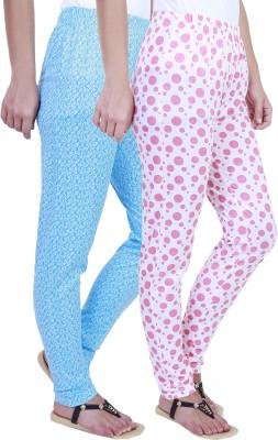 Eshelle Polka Print Women's Blue, White, Pink Track Pants