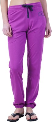 Wake Up Competition Solid Women's Purple Track Pants