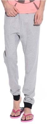 Brohood Solid Men,s Grey Track Pants