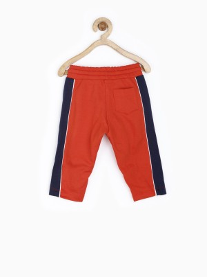 Yk Solid Baby Boy's Red Track Pants
